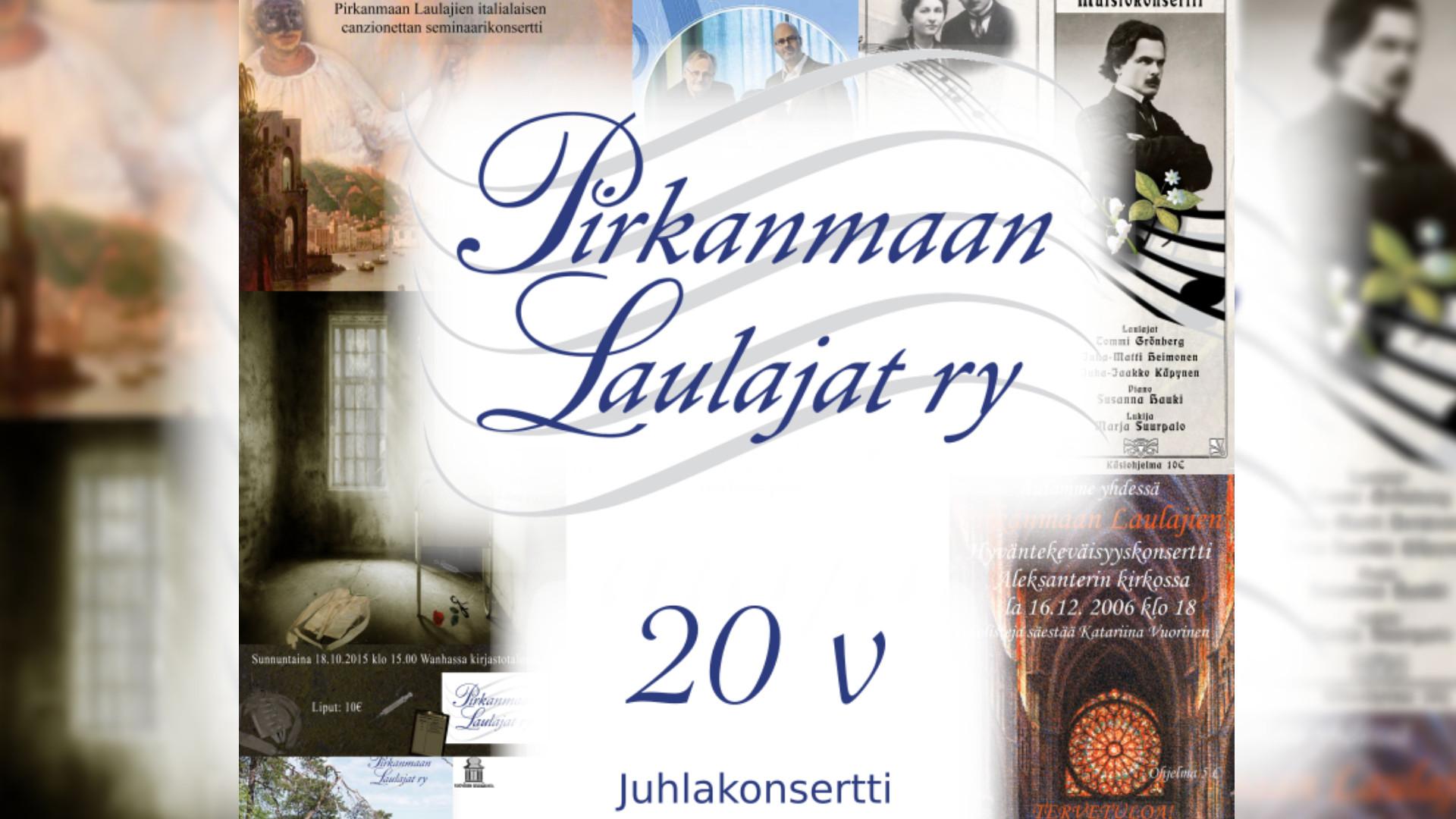 Pirkanmaan Laulajat ry:n 20-vuotisjuhlakonsertti