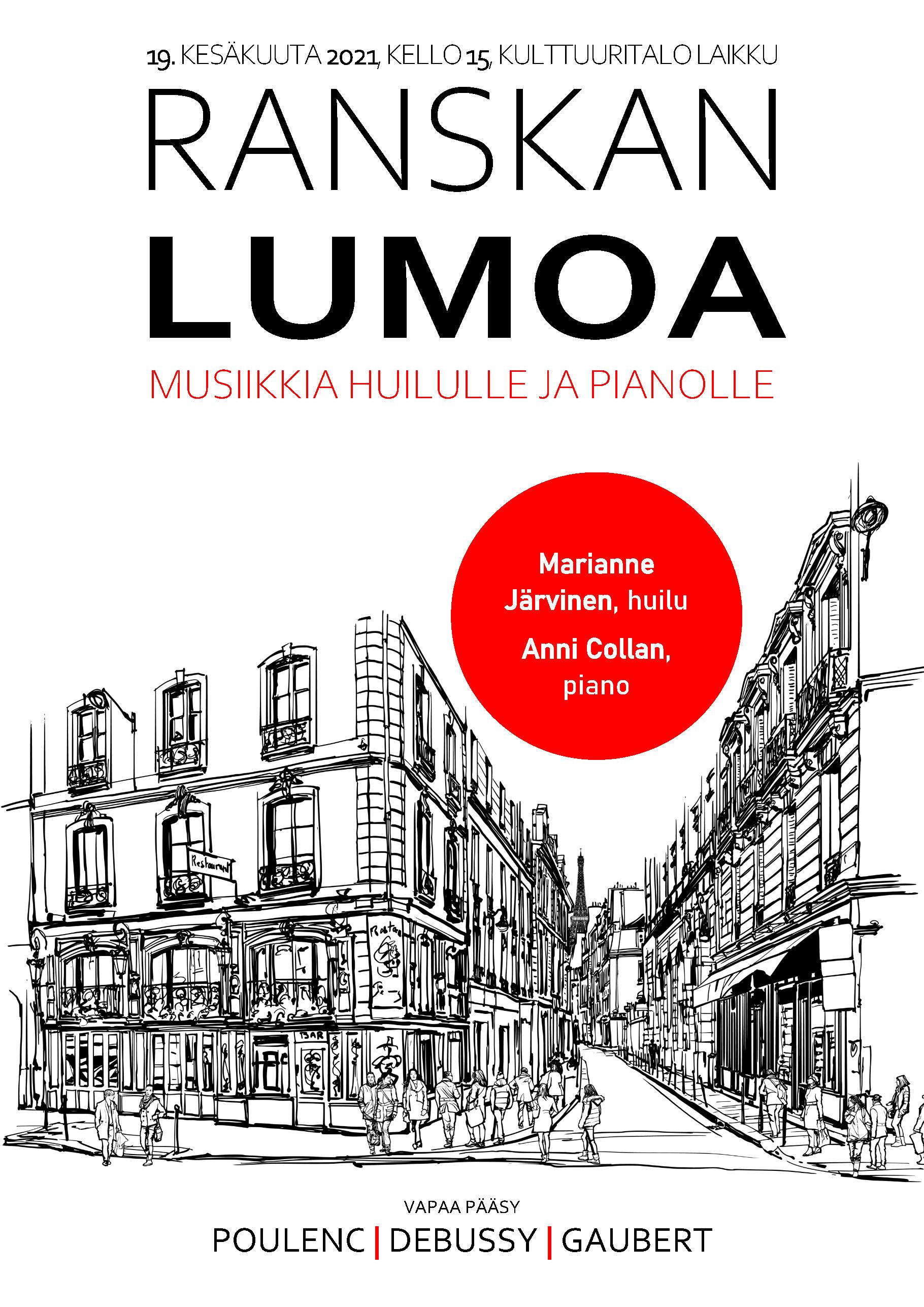 Ranskan lumoa -musiikkia huilulle ja pianolle