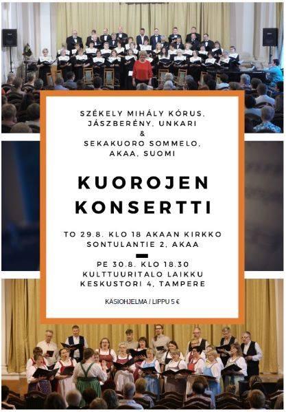 Székely Mihály KÓRUS (HU) ja Sommelo-kuoron konsertti
