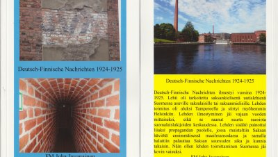 Kaksikielinen luento: Deutsch-Finnische Nachrichten, Saksalais-Suomalaisia Uutisia 1924-25