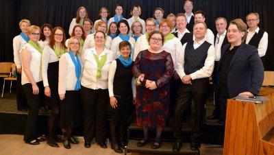 Viihdekuoro Sauriat 40-vuotisjuhlakonsertti