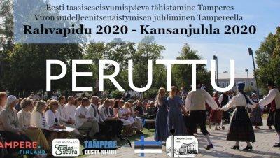 Tapahtuma peruttu: Kansanjuhla Viron uudelleenitsenäistymisen kunniaksi