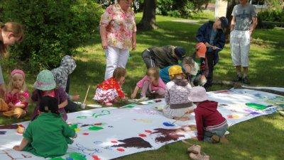 Lasten puistotaidepajat keskiviikkoisin