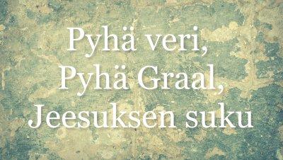 Tampereen Ruusu-Ristin luento: Seppo Heinola - Pyhäveri, Pyhä graal, Jeesuksen suku