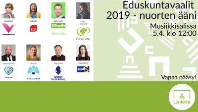Eduskuntavaalit 2019 - nuorten ääni