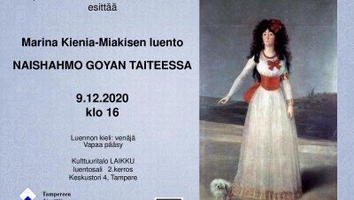 Tapahtuma peruttu: Marina Kienia-Miakisen luento NAISHAHMO GOYAN TAITEESSA