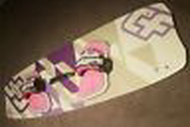 Crazyfly girls 2012 kiteboard 127x38