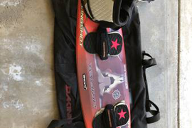 Slingshot Kiteboard + Liquid Force Harness + Dakine Kiteboard Bag
