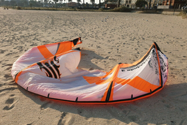 Kitesurfing Kite Cabrinha Kite 10M With Bar And Lines, harness and 132cm board