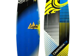 144cm Cabrinha Carbon Custom Kiteboard W/fins With Bindings Size 8-12 Cable Park
