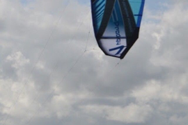 Kitesurfing Kite, Complete with Bar and Lines