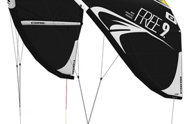 CORE Free Kite only black/black Testkites USED *VOM CORE PRO SHOP FEHMARN*