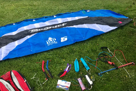 HQ BEAMER 5M POWER KITE With Extras