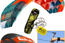 Peter Lynn UNIQ TR 2.5M Single Skin Trainer Kite 3-Line Control Bar Kiteboarding