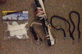 Slingshot bundle:  Kitesurf bar, new lines and suicide leashes