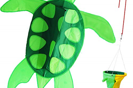 Kids Kites Easy Flyer,Large Sea Turtle Kite for Boys Girls with Long Tail,Flying