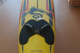 Red and Yellow F2 KiteBoard 8' 4""