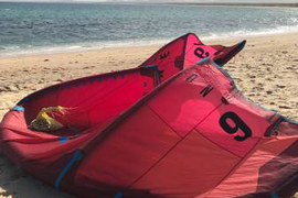Kiteboarding special North Neo 7m and 9m kites, Bar and Jamie Board