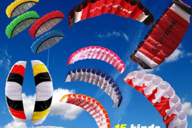 1.4-2.7M Dual Line Kitesurfing Parachute Soft Parafoil Sail Surfing Fly Kite BS