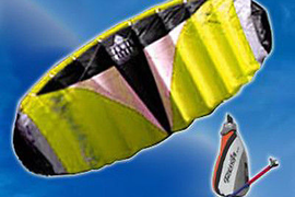 HQ4 Rush 200 Trainer Power Kite Foil Kitesurfing Boarding Bar Snow Surf Beginner