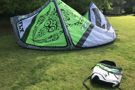 Naish Fly 15m Kitesurfing Light Wind Green Kite