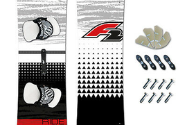 Light Wind Kiteboard 2019~F2 V2.0 161 x 44 cm+ F2 Pad Set + Fins +