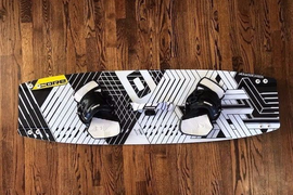 2018 Core Fusion 3 135x40 Carbon Kiteboard with Carved Ultra Straps
