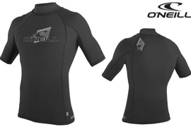 O'NEILL Rash Vest Turtleneck Lycra S/S Shirt black