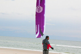 kitesurfing kite, flysurfer current model speed 5 foil kite, 12m vgc
