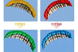 Outdoor Sports 2.5m Power Soft Kite Dual Line Stunt Parafoil Kite with Handle 30