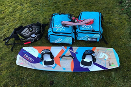 Takoon 9m and 12m Kite plus board , harness and bar.