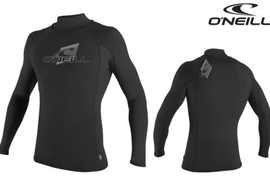 O'NEILL Rash Vest Turtleneck Lycra L/S Shirt black