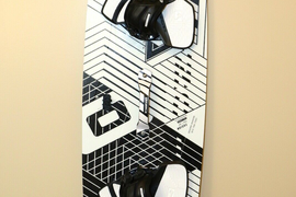 CORE FUSION 3 144X43 KITEBOARD W/ CARVED FOOTSTRAPS
