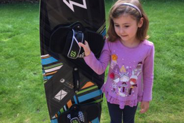 North X-Ride Kitesurfing Board (136/40), Bindings, Spare Pads & Mystic Bag Wake