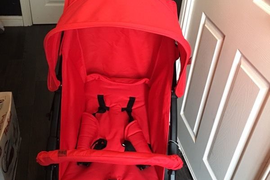 Red Kite Push Me Urban Jogger Pushchair with rain cover