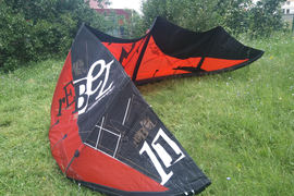 North Rebel 2009 11m  kite complete,kite,bar,lines and bag