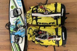 Kitesurf Set Slingshot Rally 10m Und 7m Und North X Ride 133 Board