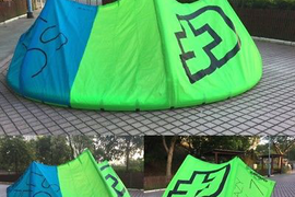 Used 2016 CrazyFly Sculp 7m Green with Sick bar Kiteboarding Kitesurfing