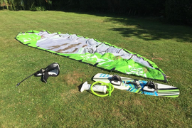 North Rebel 10m 2010 kite, kiteboard, pump, Dakine harness and lines in Kent