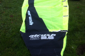 Airush 9.8 kitesurf...canopy & bag only,untested,no lines,no pump,no controls.