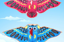 1Pc Cartoon owl flying kite foldable outdoor kite children kids sport toys