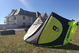 Kitesurfing kite Cabrinha Drifter 2013 9m with bar and lines
