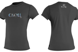 O'Neill Ladies Rash T-shirt Skins S/S Sunscreen Lycra shirt Black