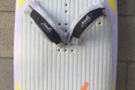 "RRD THE ORIGINAL FLYIN'BOARDS KITE SURFING BOARD 68"" WITH BINDINGS AND FINS"