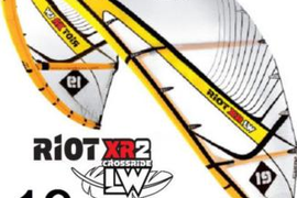 CORE RIOT XR2 LW 19m² Kite white/yellow - TOP Zustand