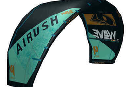 2019 Airush Wave V8 Kitesurf Kite (Reefer Blue)