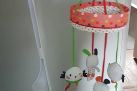 Red Kite Cotton Tail Musical Cot Mobile