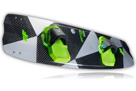 2018 CrazyFly Raptor LTD Neon Kiteboard Complete w/Bindings, Fins, and Hardware