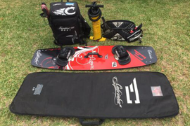 Cabrihna Kite Board Package.