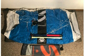 HQ Kites Symphony 1.8 Beach Stunt Kite in Blue with Bag new never used